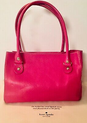 $ CDN79.50 • Buy Kate Spade Deep Pink Leather Tote Bag And Dust Bag