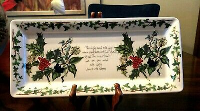 Portmeirion THE HOLLY AND THE IVY  - Sandwich Tray~signed By Artist? Britain • 40$