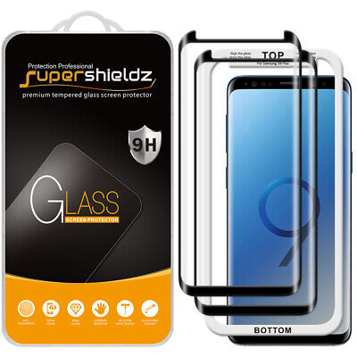 $ CDN15.18 • Buy 2X Full Cover Tempered Glass Screen Protector For Samsung Galaxy S9 Plus