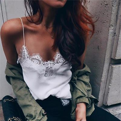 AU6.45 • Buy Womens Sexy V-neck Tank Lace Vest Top Ladies Sleeveless Tops Clubwear Clothes WS