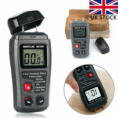 2-Pin Digital Moisture Meter PRO Damp Detector Timber Wood Tester Plaster Sensor • 11.87£