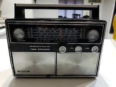 TEMPEST SOLID STATE RADIO AM/FM Mb Sw  VINTAGE MID CENTURY 4 Band • 14.68£