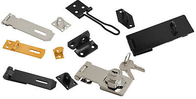 £3.59 • Buy Hasp And Staple Security Locks Door Gate Shed For Padlock 38mm - 250mm Locking