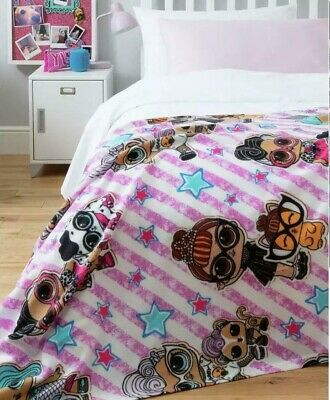 £7.99 • Buy Girls Official L.O.L. LOL Surprise Character Super Soft Fleece Bed Blanket Throw