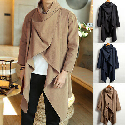 $26.88 • Buy Mens Hooded Cape Cloak Poncho Coat Hoodie Pullover Hipster Punk Trench Outerwear