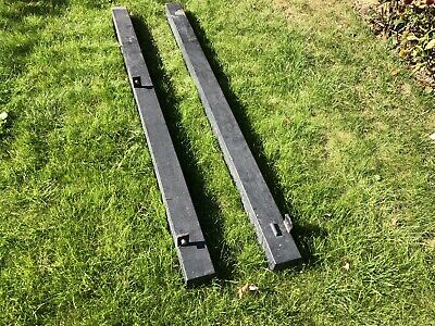 Metal Gate Posts (pair) Grey 100x100 X2 With Brackets 2m Long Approx • 55£