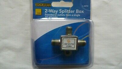 AU6.95 • Buy  2 Way F Type TV Splitter Foxtel BRAND NEW
