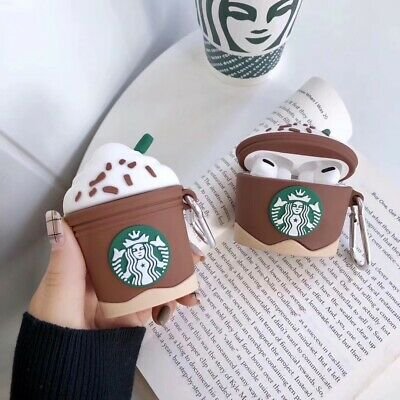 $ CDN6.56 • Buy 3D Coffee Cup Ice Cream Cup Bag Airpod 1 2 3 Charge Case Cover For AirPods Pro