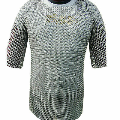 £29.10 • Buy Aluminium Chainmail Shirt Butted Aluminum Chain Mail Haubergeon Medieval Armour