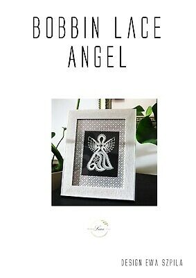 Bobbin Lace Angel Pattern Christmas Begginers Handmade Unique Gift Lacemaking • 2.40£
