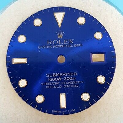 $ CDN592.11 • Buy ROLEX SUBMARINER 16613 Glossy Blue Spider Watch Dial With Luminous Marks
