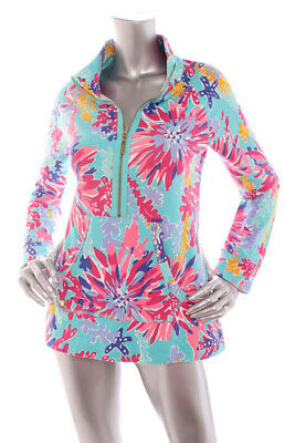 NEW Lilly Pulitzer Women French Terry Half-Zip Popover Stretch Soft Top Multi M • 41.99$