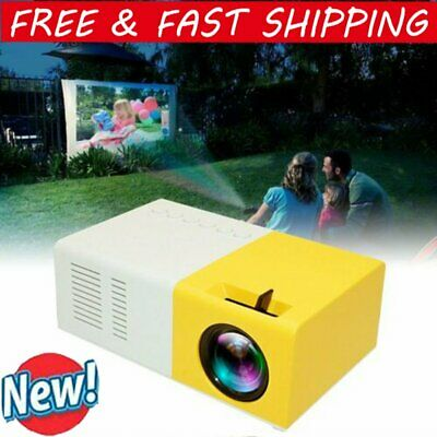 AU55.99 • Buy Mini Portable LED Projector 1080P HD Home Cinema Theater System PC Laptop Phone~