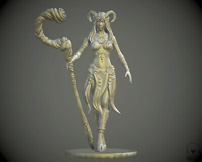 $ CDN13.23 • Buy 28 Mm Faun Tiefling Druid Miniature For DnD D&D Pathfinder Warhammer Reaper