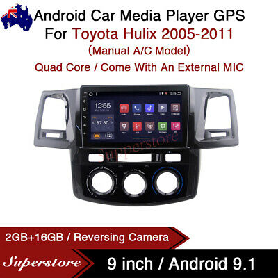 """AU359.10 • Buy 9"""" Android 9.1 Car Stereo Non Dvd Usb GPS Head Unit For Toyota Hilux 2005-2011"""