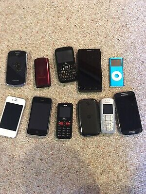 $ CDN106.05 • Buy Lot Of 10 Cell Phones/Mobile Phones + Ipod Nano