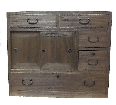 Vintage Japanese Ko Tansu Small Chest Cabinet Side Table Furniture 15G29 • 595$