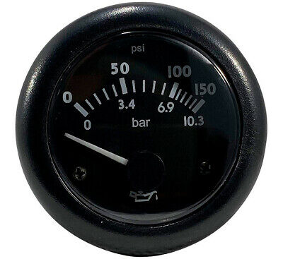 $25.99 • Buy Oil Pressure Gauge | 0-150 PSI Or 0-10.3 Bar | 24 Volts | 1 Year Warranty!