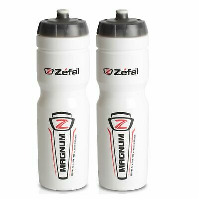 AU34.95 • Buy 2x Zefal Magnum 1 Litre Cycling Water Bottles White (1L HUGE CAPACITY!) Bidons