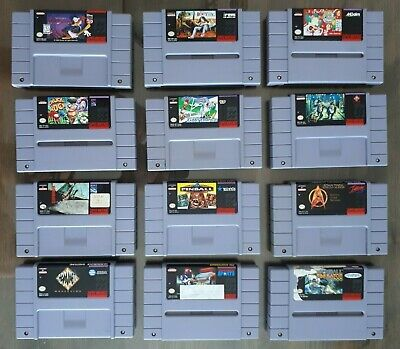 $ CDN79.50 • Buy Lot Of 12 Games For Nintendo SNES Cold Shadow, Dino City, Blues Brothers, Krusty