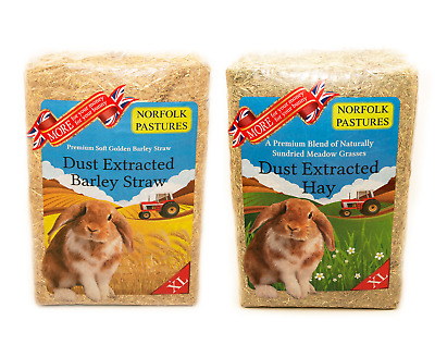 £9.95 • Buy Norfolk Pastures XL Pack Premium Dust Extracted Hay OR Straw For Small Animals