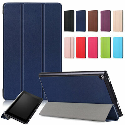 For Amazon Kindle Fire HD 8 2018 8th Generation Leather Smart Folio Case Cover • 8.08£