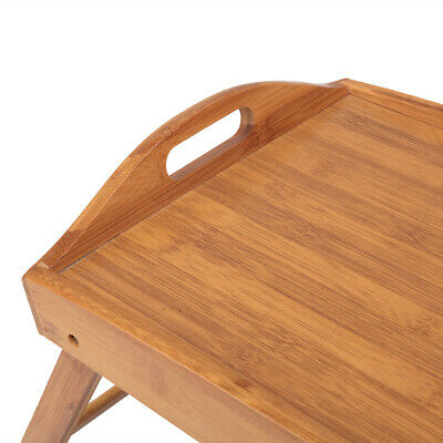 $17.65 • Buy Folding Wood TV Tray Breakfast Dinner Table Coffee Stand Serving Snack Tea Tray