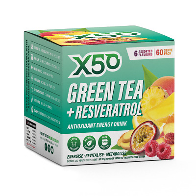 AU49 • Buy Green Tea X50 Weight Loss Energy Drink - 60 Serves - Free Shipping