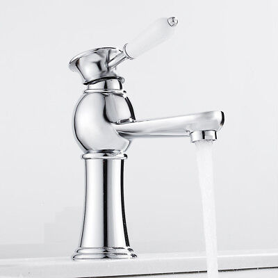 Traditional  Bathroom Basin Mixer Taps Tall Counter Top Brass Faucet Tap Chrome • 21.99£