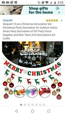 $15 • Buy Atopsell 19 Pcs Christmas New Year Party Decoration Set Indoor Outdoor