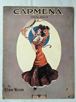 $49.95 • Buy Carmena Vocal Waltz 1890 Early E.T.Paull ART - Wilson Voice & Piano Sheet Music