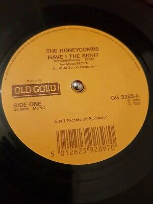 The Honeycombs – Have I The Right Vinyl 7  Old Gold Single OG 9289 1983 • 4.24£