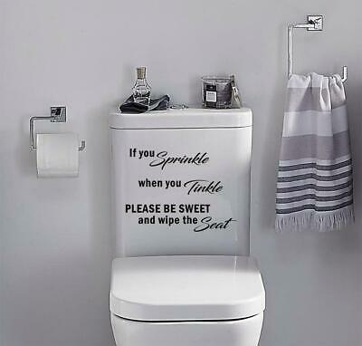 £2.75 • Buy Toilet Funny Sticker IF YOU SPRINKLE Vinyl Decal Bathroom Wall Seat Home Decor