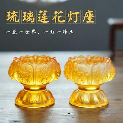 $ CDN11.70 • Buy Lotus Candle Butter Lamp Candle Holder Buddhist Supplies Supply Cup Buddha Pray