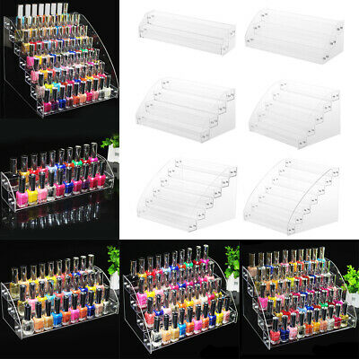 Acrylic Nail Polish Rack Organizer 2-7 Tier Makeup Lipstick Retail Display Stand • 9.95£