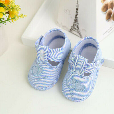 Newborn Baby Kids Shoes Girls Boys Print Sole Crib Toddler Shoes Canvas Sneakers • 2.28£
