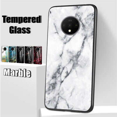 AU5.82 • Buy For OnePlus 7T Pro 6T 5T Marble Tempered Glass Back Case Slim TPU Hybrid Cover