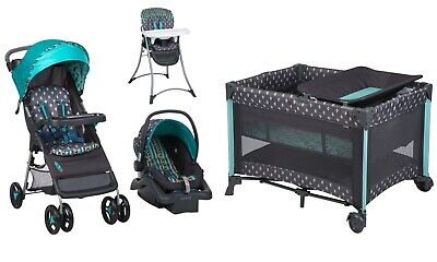 $319 • Buy NEW Stroller Car Seat Infant Playard Crib Travel System With Bassinet High Chair