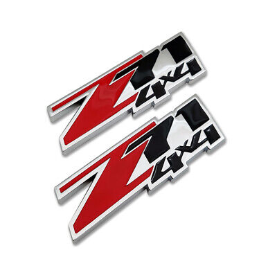 AU12.91 • Buy 2x Red Z71 4X4 Emblem Off-Road Badge 3D Chrome Metal Sticker Decal For Chevy GMC