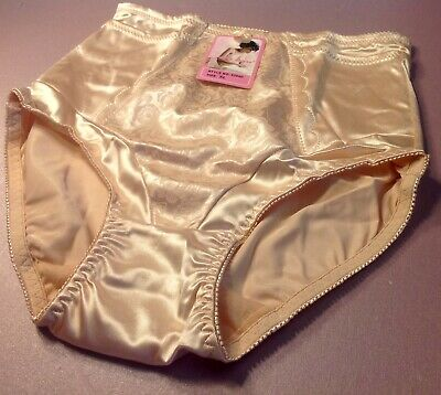 $13.99 • Buy Women Panties,Briefs,Control Panties Ann Diane Size 4XL Beige Satin W/2 Pockets