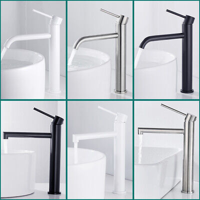 Modern Bathroom Basin Mixer Taps Faucets Tall Counter Top Cloakroom Tap. • 21.59£