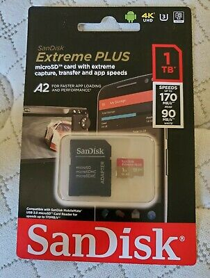 AUTHENTIC SanDisk SDSQXA1-1T00-GN6MA 1TB Extreme Micro/SDXC Memory SD Card  • 250$