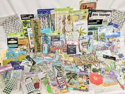 $50 • Buy HUGE 100 PC LOT Scrapbooking Embellishments Beach Cruise Vacation Travel NEW!!