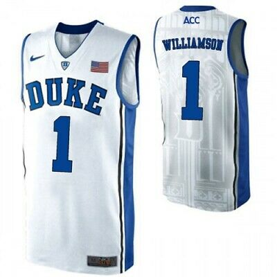 $47.99 • Buy NWT Zion Williamson Duke Blue Devils #1 Adult Stitched Basketball Jersey - White