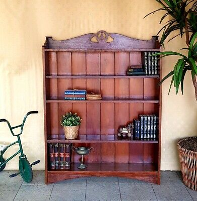 AU330 • Buy Silky Oak Bookcase, Shelving, Antique Arts And Crafts Style
