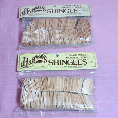 Dollhouse Houseworks Shingles 1/12th Scale Tapered Roofing #7003 2 Packs 100pcs • 7.50$
