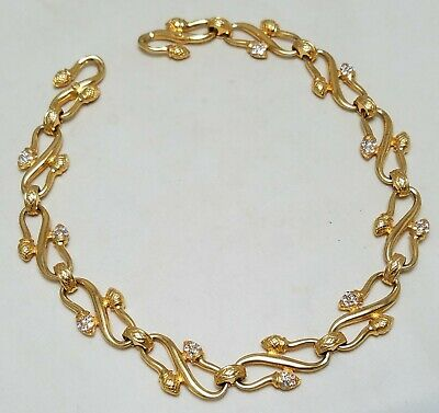 Vintage 1990's FENDI Choker Gold Plated Acorn Necklace • 28$