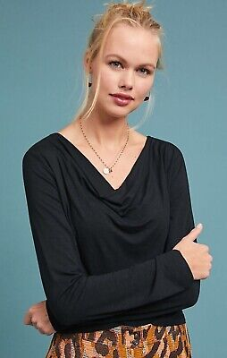 $ CDN35.26 • Buy Anthropologie Dolan Kirby Cowl Neck Top,small,nwt,msrp-$68,black
