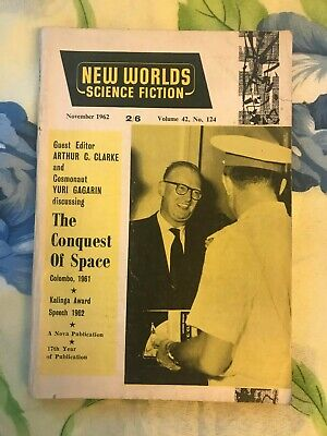 Vintage New Worlds Science Fiction Nov 1962 Featuring Arthur C Clarke And Uri... • 11.99£