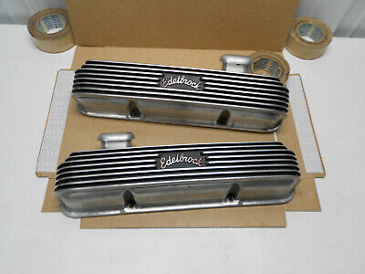 $1499.95 • Buy 1950s 60s EDELBROCK FORD MERCURY FE ALUMINUM VALVE COVERS 360 390 427 428 EELCO